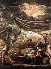 Jacopo Robusti Tintoretto The Miracle of Manna [detail 1] painting